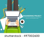 engineering and architecture... | Shutterstock .eps vector #497002600