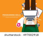 programming and coding... | Shutterstock .eps vector #497002918