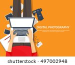 photography equipment with... | Shutterstock .eps vector #497002948
