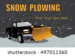 Black Pick Up Truck With Snow...