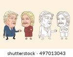 july 30  2016 caricature... | Shutterstock .eps vector #497013043