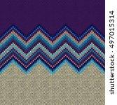 seamless ethnic geometric... | Shutterstock .eps vector #497015314
