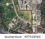 aerial view of the air park... | Shutterstock . vector #497018560