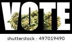 vote marijuana  | Shutterstock . vector #497019490