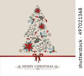 christmas and new year card...   Shutterstock .eps vector #497021368