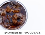 close up cola and ices in the... | Shutterstock . vector #497024716