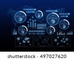 innovative networking interface ... | Shutterstock . vector #497027620