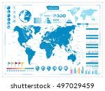 large world map and... | Shutterstock .eps vector #497029459