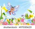 Illustration Of Funny Butterfly ...
