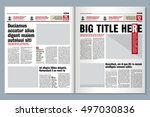 graphical design tabloid... | Shutterstock .eps vector #497030836