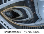 looking down from the top on a... | Shutterstock . vector #497037328