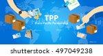 tpp trans pacific partnership... | Shutterstock .eps vector #497049238