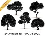 collection of isolated tree on... | Shutterstock .eps vector #497051923