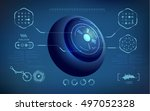 abstract technological health... | Shutterstock .eps vector #497052328