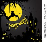 halloween | Shutterstock .eps vector #497067679