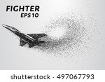 fighter of the particles. the...   Shutterstock .eps vector #497067793