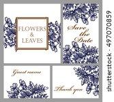vintage delicate invitation... | Shutterstock .eps vector #497070859