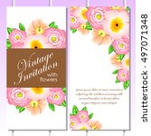 romantic invitation. wedding ... | Shutterstock .eps vector #497071348