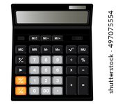calculator design isolated on...   Shutterstock .eps vector #497075554