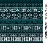 ethnic boho seamless pattern.... | Shutterstock . vector #497076640