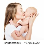 mother and baby playing and... | Shutterstock . vector #497081620