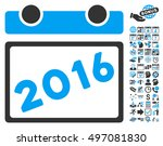 2016 calendar pictograph with... | Shutterstock . vector #497081830