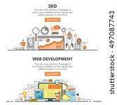 search engine optimization and... | Shutterstock .eps vector #497087743