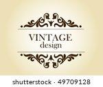 vintage background | Shutterstock .eps vector #49709128