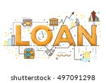 personal loan  business finance ... | Shutterstock .eps vector #497091298