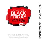 banner with black friday... | Shutterstock .eps vector #497095678