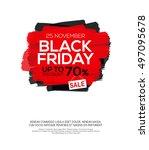 black friday sale inscription... | Shutterstock .eps vector #497095678