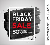 black friday sale 50  discount... | Shutterstock .eps vector #497101216