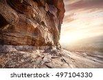 extinct volcano bektau ata in... | Shutterstock . vector #497104330