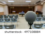 meeting blurred background at... | Shutterstock . vector #497108884