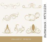 vintage decorative ornaments... | Shutterstock .eps vector #497111224