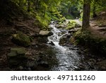 Tiny Mountain River Near The...