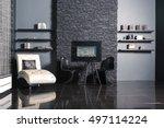 modern dark luxury black... | Shutterstock . vector #497114224