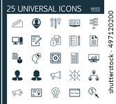 set of 25 universal icons on... | Shutterstock .eps vector #497120200