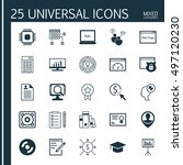 set of 25 universal icons on... | Shutterstock .eps vector #497120230