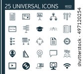 set of 25 universal icons on... | Shutterstock .eps vector #497120254