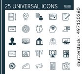 set of 25 universal icons on... | Shutterstock .eps vector #497120260