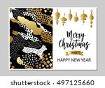 merry christmas and happy new... | Shutterstock .eps vector #497125660