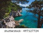 shoreline and adriatic sea...   Shutterstock . vector #497127724