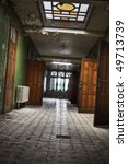 a grungy looking hallway  with... | Shutterstock . vector #49713739