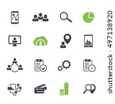 16 business  finance icons set...