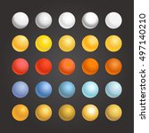 different metal spherical... | Shutterstock .eps vector #497140210