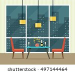 night romantic date with... | Shutterstock .eps vector #497144464