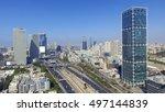 Tel Aviv Skyline   Aerial Phot...