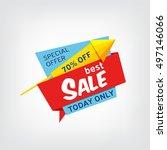 vector banner for best sale | Shutterstock .eps vector #497146066