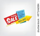 vector banner for mega sale | Shutterstock .eps vector #497146084